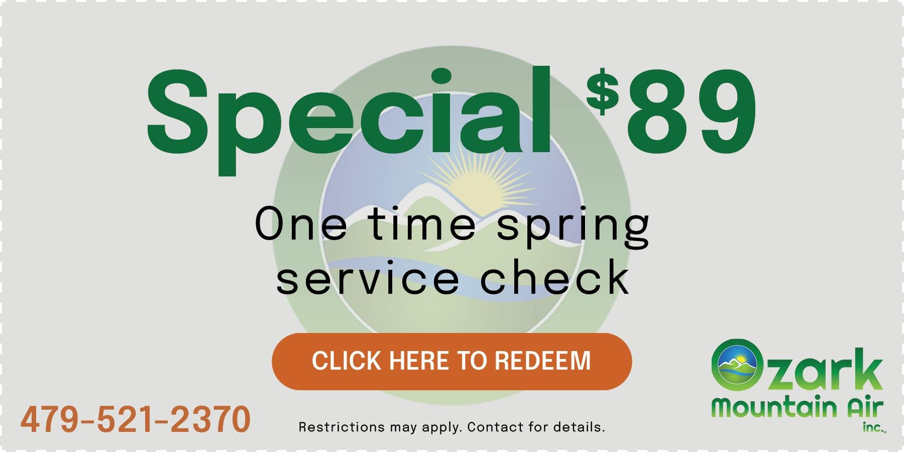 Spring Service Check