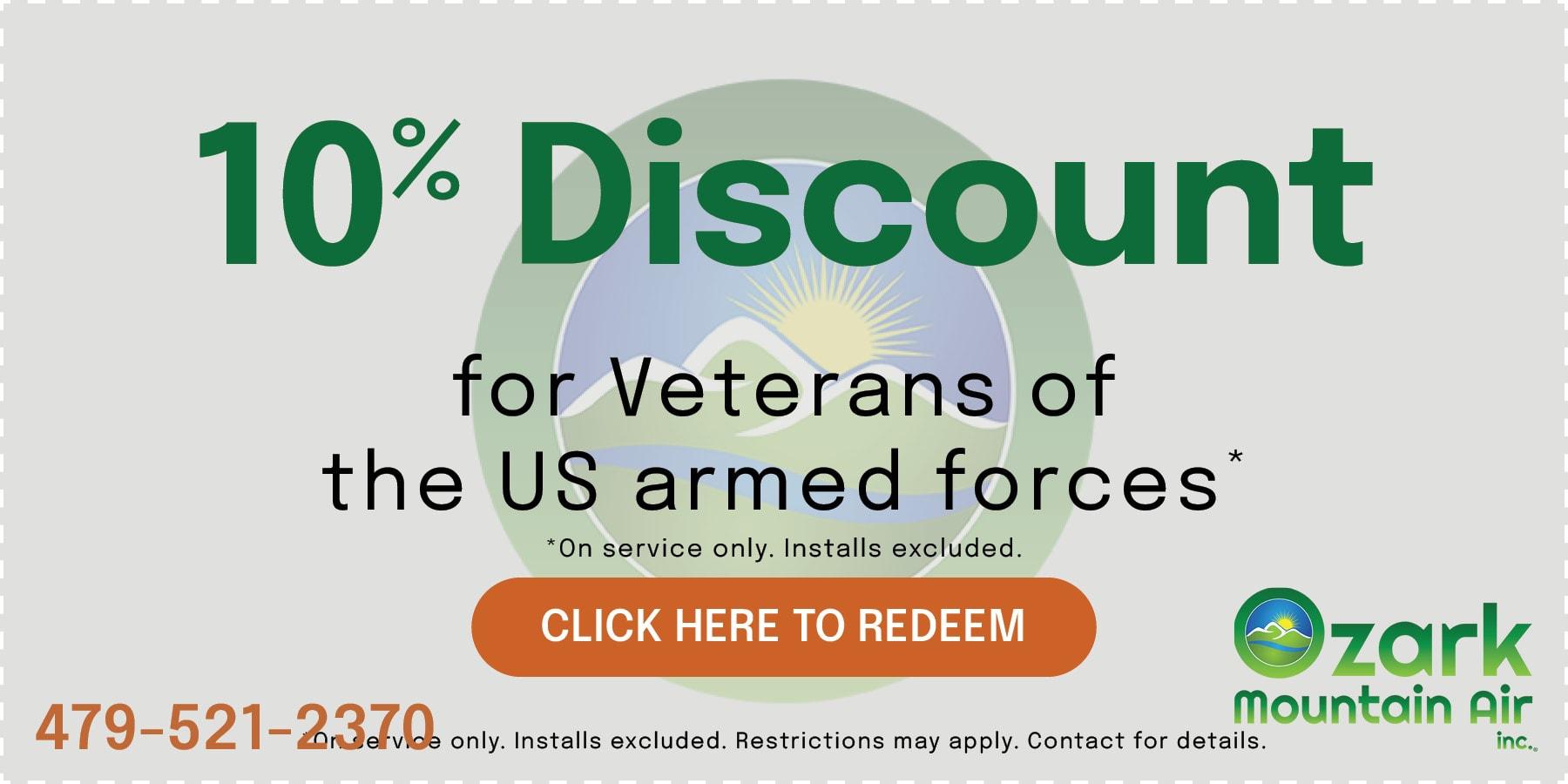 Veteran Discount coupon.