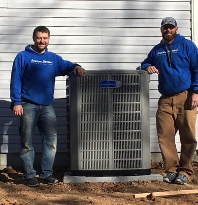 Technicians standing by AC.